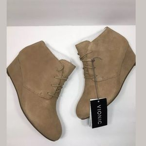 4f416e680551 vionic Shoes - Vionic ELEVATED BECCA Suede Wedge Lace-Up Bootie
